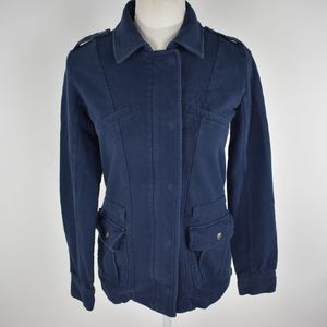 Lucky Brand blue pea coat button up jacket XS